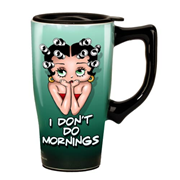 Betty Boop Mornings Travel Mug with Handle