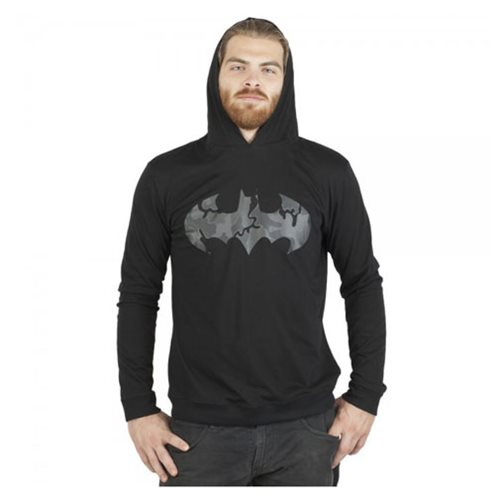 Batman Black Hooded Long Sleeve T-Shirt