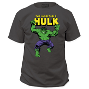 The Incredible Hulk Classic Comic Logo Gray T-Shirt