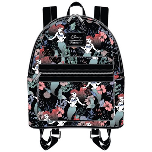 c4be17b2d16 The Little Mermaid Ariel Floral Print Mini Backpack - Entertainment Earth