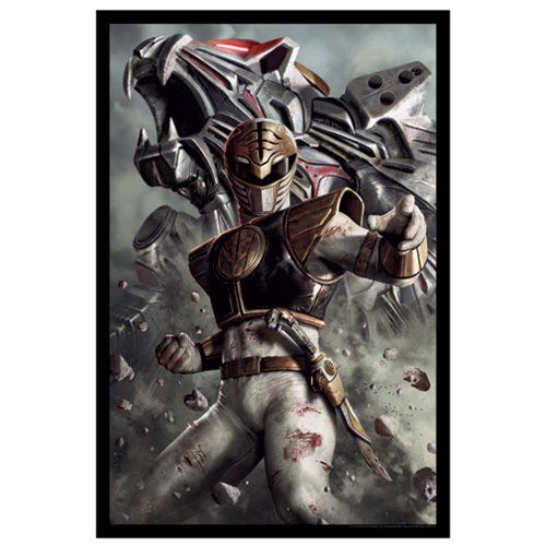 Mighty Morphin' Power Rangers White Ranger Lithograph