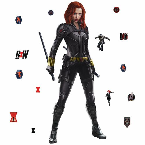 Black Widow Peel and Stick Giant Wall Decals