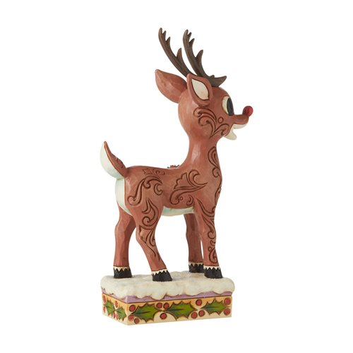 Rudolph the Red-Nosed Reindeer Rudolph with Sleigh Scene Statue by Jim Shore