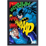 Batman vs. Penguin Framed Art Print