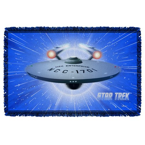 Star Trek All She's Got Woven Tapestry Throw Blanket