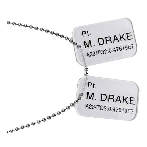Aliens Pt. Drake Dog Tags Prop Replica