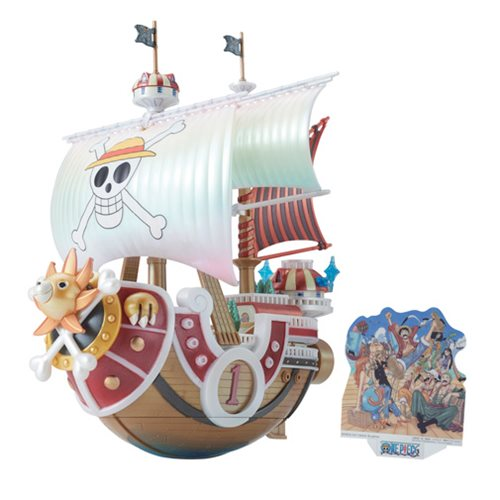 One Piece Thousand Sunny Memorial Color Version Grand Ship Collection Model Kit