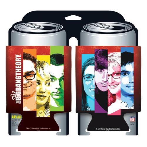 Big Bang Theory Cast Collage Can Hugger 2-Pack