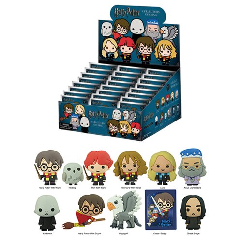 Harry Potter Series 3  3D Figural Key Chain Random 6-Pack
