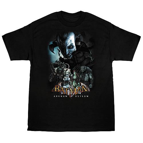 Batman Arkham Asylum Five Against One T-Shirt