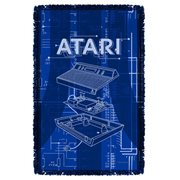Atari Inside Out Woven Tapestry Throw Blanket