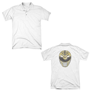 Mighty Morphin Power Rangers White Ranger Mask Polo T-Shirt