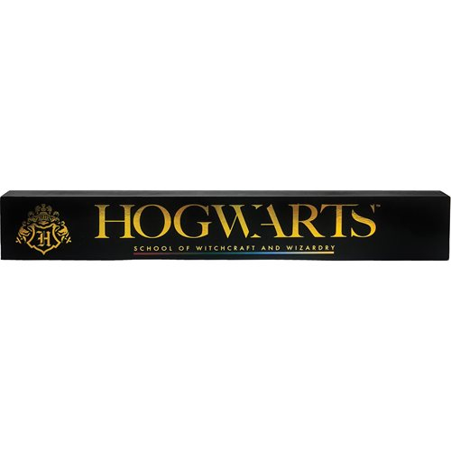 Harry Potter Hogwarts Wide Wooden Sign