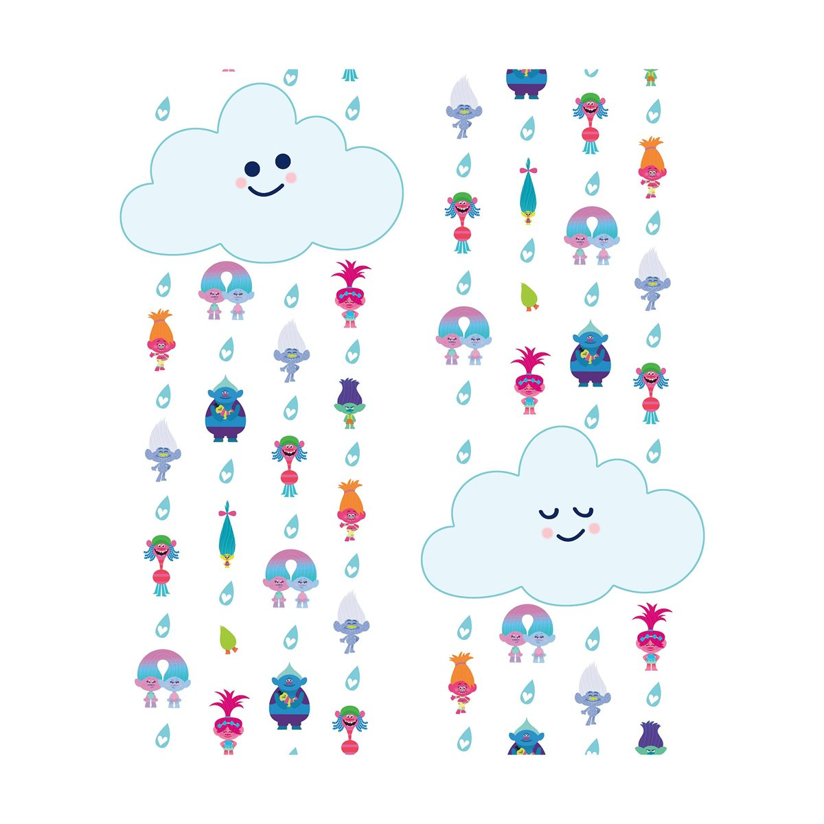 Trolls Clouds Peel And Stick Wallpaper Entertainment Earth