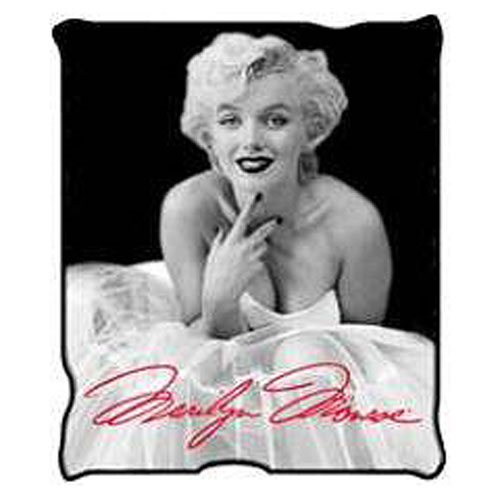 Marilyn Monroe Black and White Ballerina Dress Throw Blanket