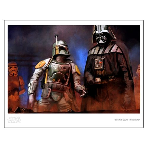 Star Wars He's No Good to Me Dead by Cliff Cramp Paper Giclee Art Print