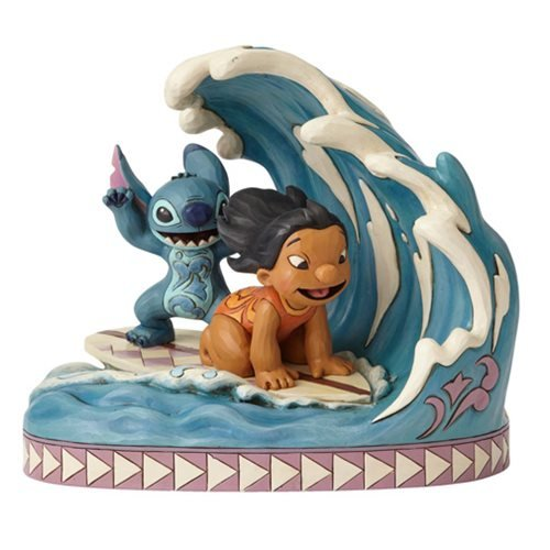 Disney Traditions Lilo and Stitch Catch the Wave Statue