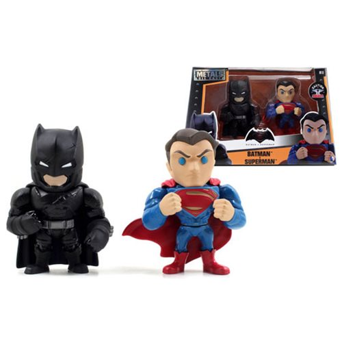 Batman v Superman: Dawn of Justice Superman and Batman with Armor 4-Inch Alternate Die-Cast Figure 2-Pack
