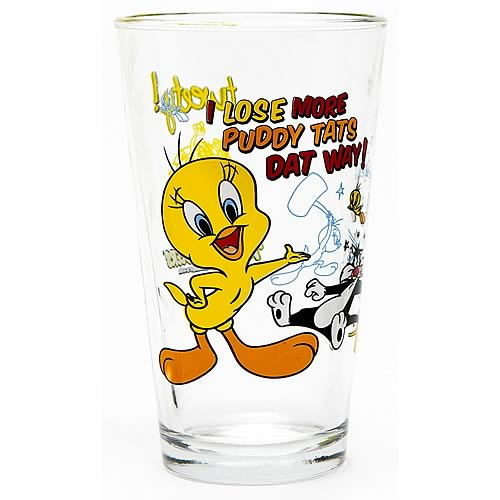 Looney Tunes Tweety Toon Tumbler Pint Glass