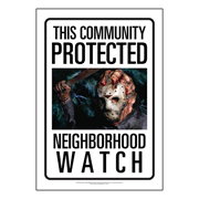 Friday the 13th Jason Voorhees Community Watch Tin Sign