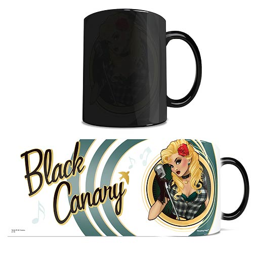 DC Comic Justice League Black Canary Bombshells Morphing Mug