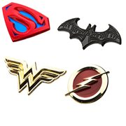 Justice League Logos 4-Pack Enamel Pin Set