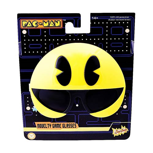 Pac Man Smiley Sun-Staches