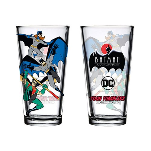 Batman: The Animated Series Bat Family Toon Tumbler Pint Glass
