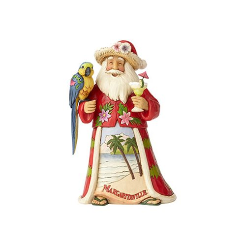 Margaritaville Santa and Parrot Merry in Margaritaville Heartwood Creek Statue by Jim Shore