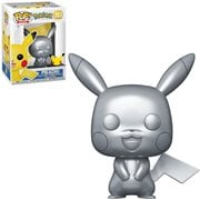 Pokemon Pikachu Metallic Silver Pop! Vinyl Figure