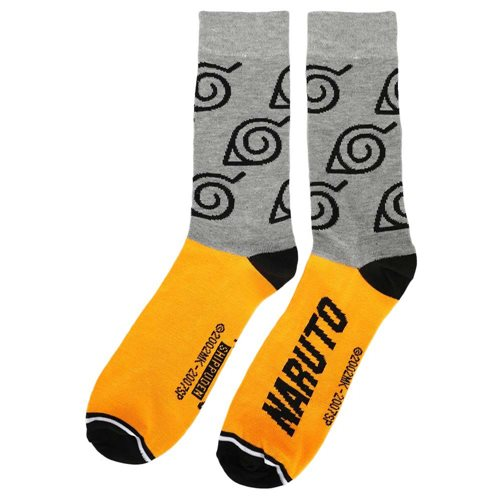 Naruto Split Color Crew Socks Set of 5