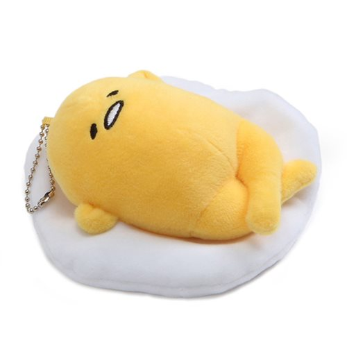 Gudetama Face Up Plush Key Chain