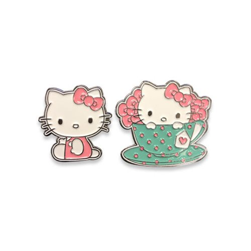 Hello Kitty Tea Hello Kitty Enamel Pin Set