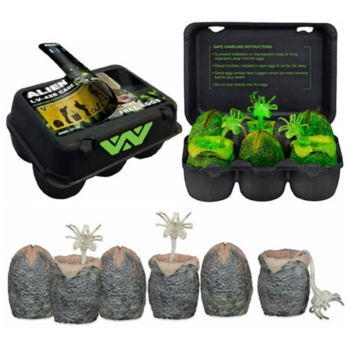 Alien Glow-in-the-Dark Alien Egg 6-Pack Carton