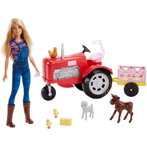Barbie Doll and Tractor Playset