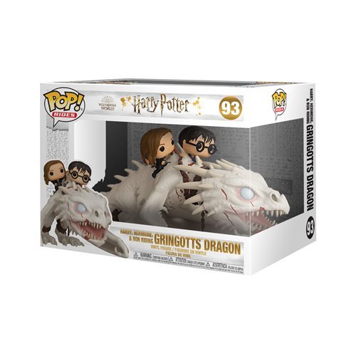 Harry Potter and the Deathly Hollows Dragon with Harry, Ron, and Hermione Pop! Vinyl Ride