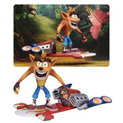 Crash Bandicoot Deluxe Hoverboard Crash 7-Inch Scale Action Figure