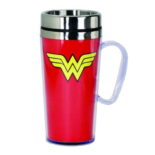 Wonder Woman Red Travel Mug with Handle