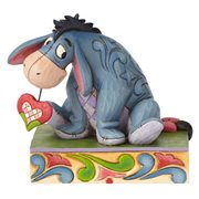 Disney Traditions Winnie the Pooh Eeyore Personality Pose Heart on a String Statue