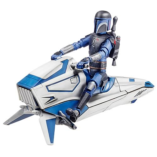 Star Wars Clone Wars Mandalorian with Speeder Bike