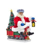 Lionel Santa Train Light-Up 10 1/2-Inch Statue
