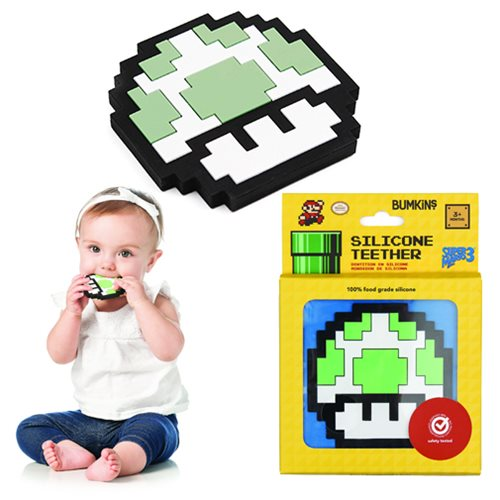 Nintendo 8-Bit 1-Up Mushroom Hand Held Teether