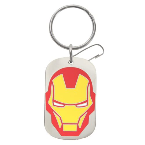 Marvel Iron Man Tag Enamel Key Chain