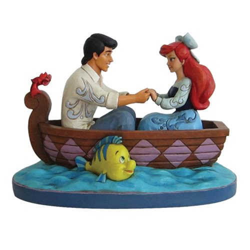 Disney Traditions The Little Mermaid Waiting For A Kiss Ariel and Prince Eric Statue by Jim Shore