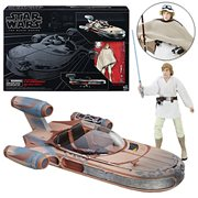 Star Wars The Black Series Luke Skywalker's Landspeeder Vehicle with Luke Skywalker Action Figure