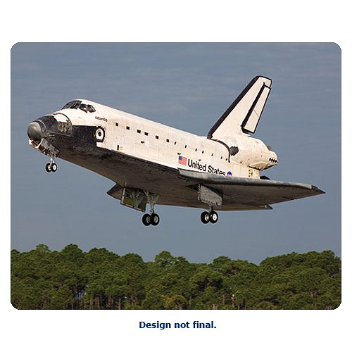 Space Shuttle with Cargo Bay and Satellite 1:144 Scale Model Kit