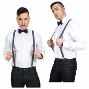Doctor Who Eleventh Doctor Purple Suspenders