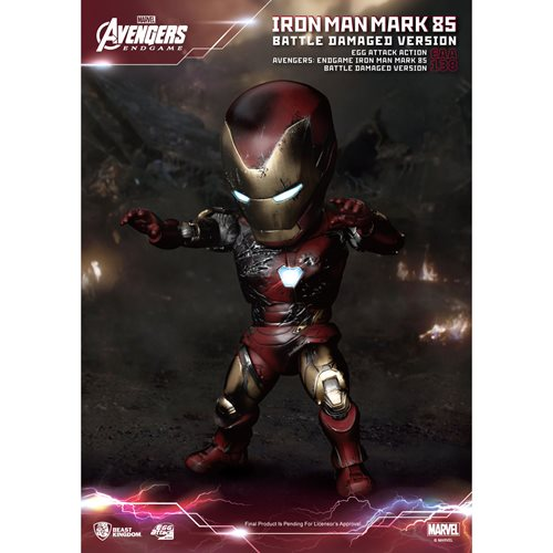 Avengers Endgame Iron Man MK 85 Battle Damaged Version EAA-138 Action Figure