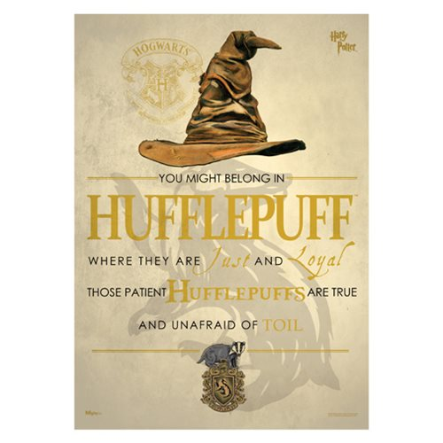 Harry Potter Sorting Hat Hufflepuff MightyPrint Wall Art Print