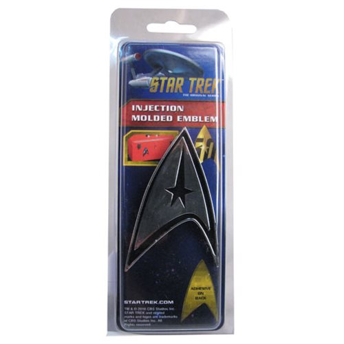 Star Trek Badge Chrome Injection-Molded Emblem